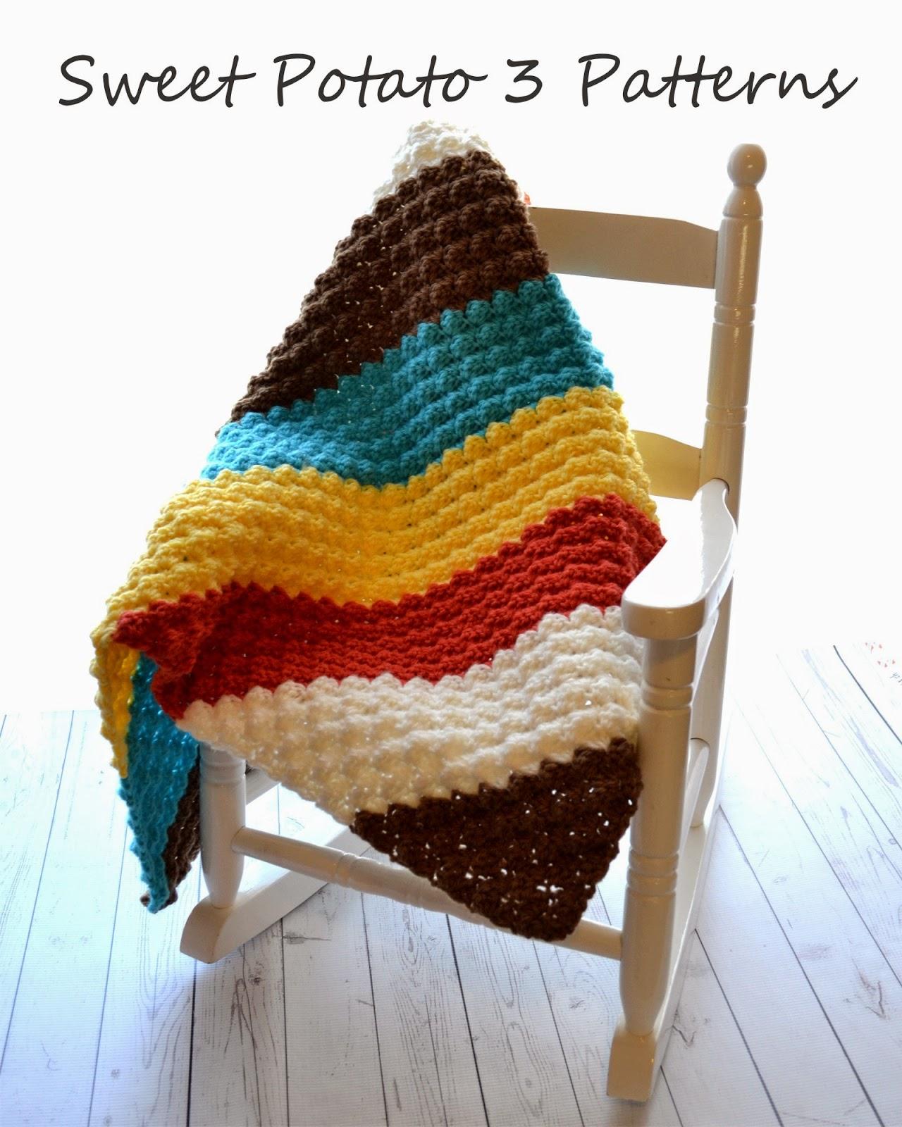 Diagonal Delights Crochet Blanket