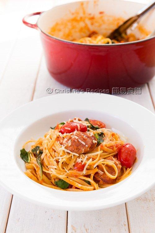 蕃茄羅勒意大利粉【一鍋搞定】One Pot Pasta