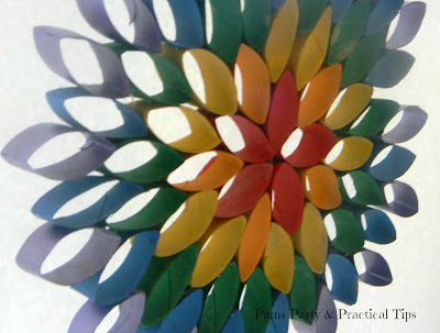 Side view of the hanging rainbow flower