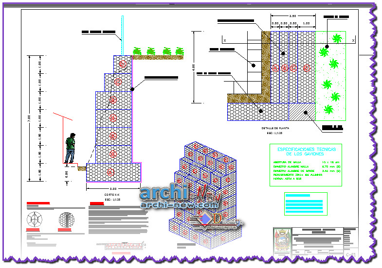 Download Autocad Cad Dwg File Gabion Protection Design