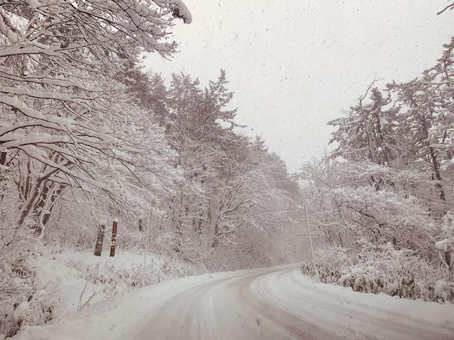 下過雪的山路