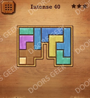 Cheats, Solutions, Walkthrough for Wood Block Puzzle Intense Level 40