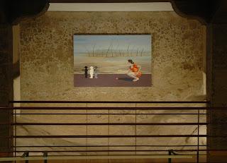 Luces y Sombras, exposición de pintura en El Aljibe, preparativos