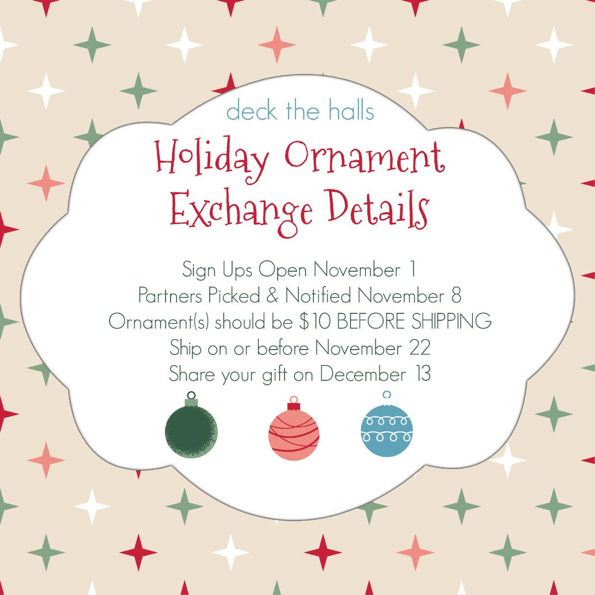 Chasin' Mason: Announcing... A Holiday Ornament Exchange