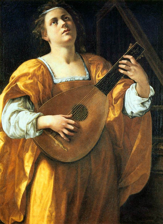 Artemisia Gentileschi St Cecilia  Rome Galleria Spada