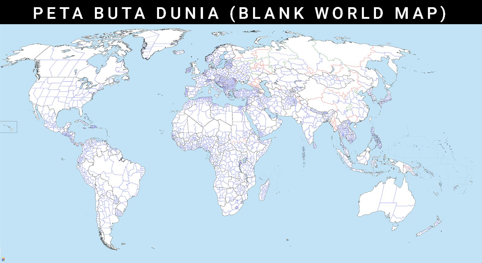 Gambar peta buta dunia ukuran besar download