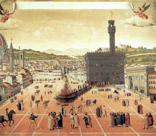Painting of the execution of Savonarola in Florence