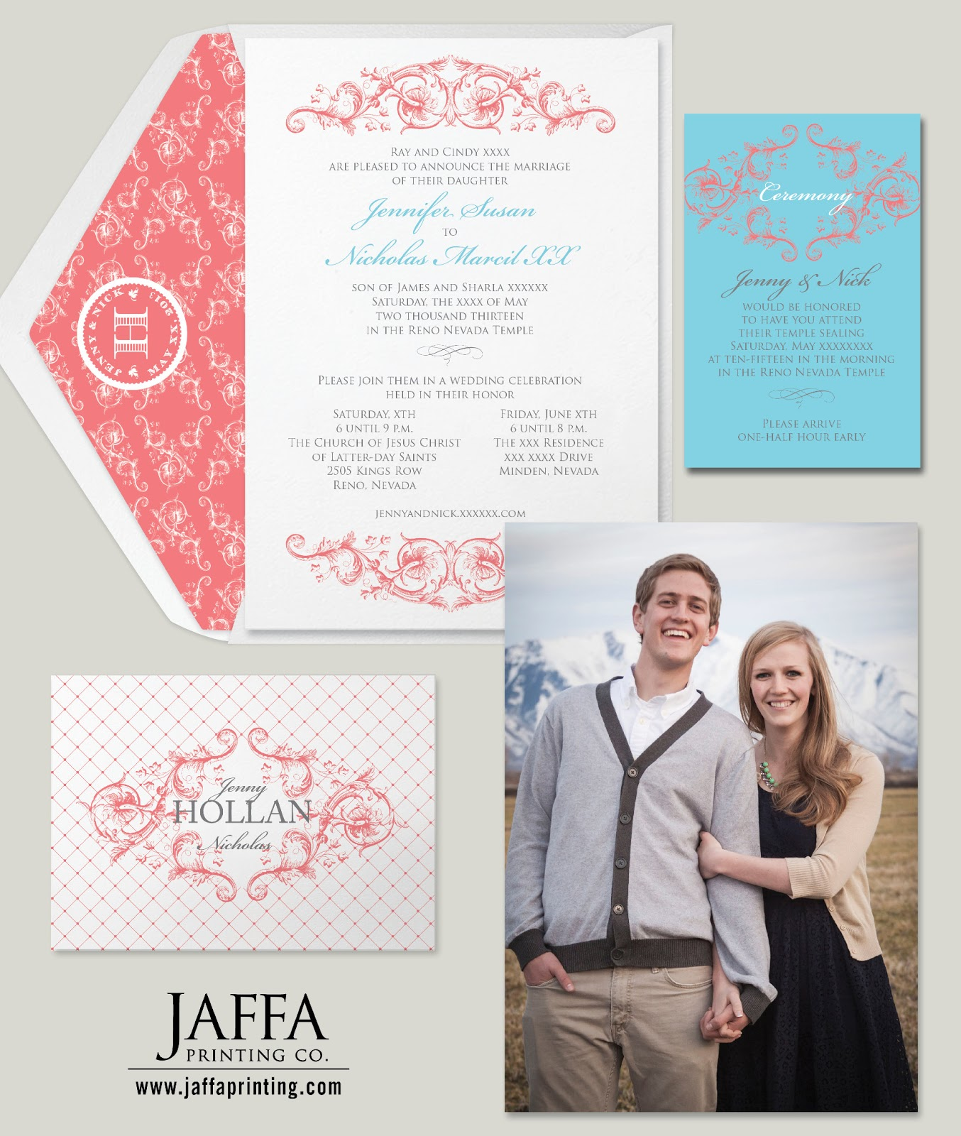 Wedding Invitation Blog: Season Favorite's: Double Sided