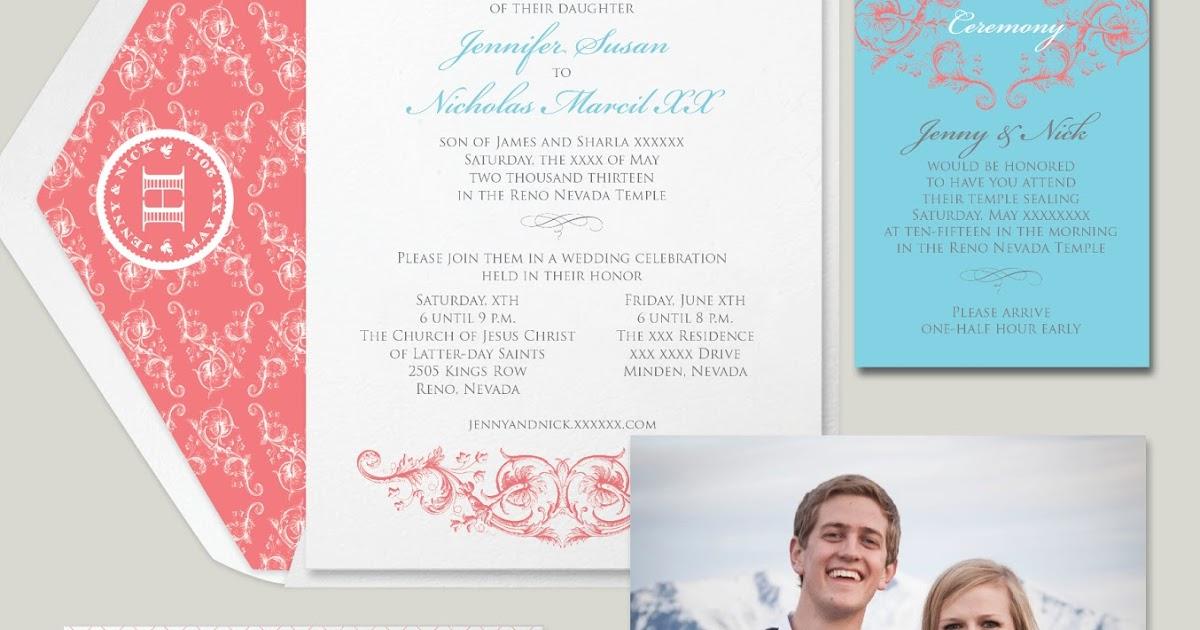 Photographic Wedding Invitations: Wedding Invitation Blog: Season Favorite's: Double Sided