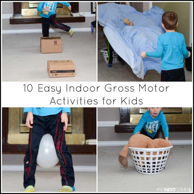 10 easy ways to get the kids moving indoors using everyday objects from And Next Comes L