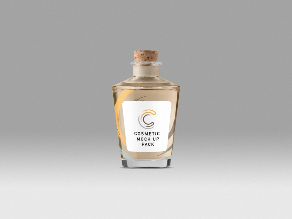Cone Bottle Cosmetic Packaging Mockup