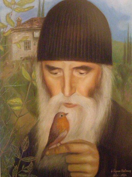 Αποτέλεσμα εικόνας για Ένα που καθόταν στο χέρι του(Από τον βίο του Οσίου Παϊσίου)