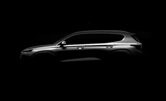 Hyundai divulga a primeira imagem da Nova Santa Fé