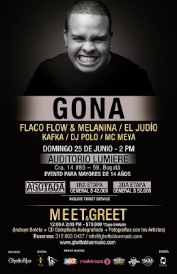 GONA EN BOGOTÁ JUNTO A FLACO FLOW & MELANINA, EL JUDIO, KAFKA, DJ POLO Y MC MEYA 2