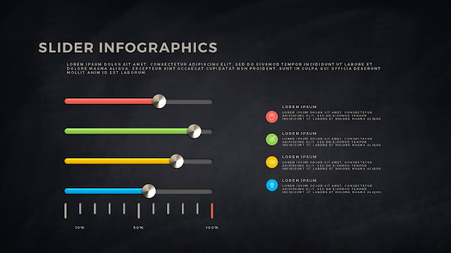 Free PowerPoint Template with Slider Infographics Slide 11