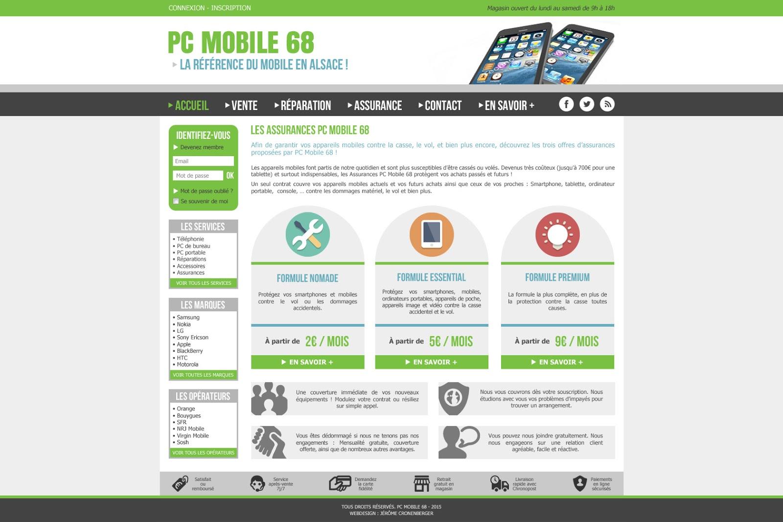 Création de site internet, pc mobile 68