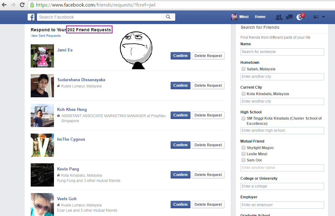 Reflection Of Life: Advice : Don't blindly accept friend requests on