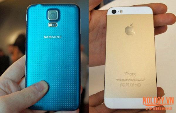 Thiết kế của Samsung Galaxy S5 cũ và Iphone 5s Cũ