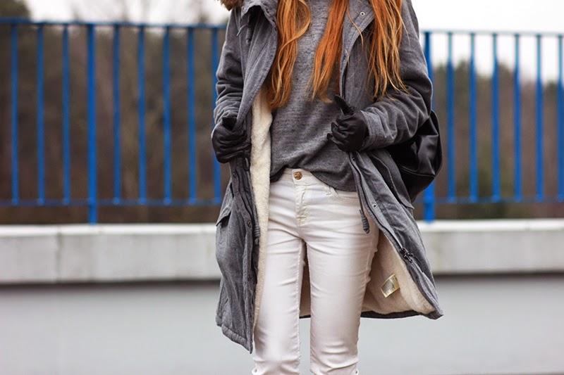 Gray Parka Coat SimplyTheBest Blog Ewa Sularz