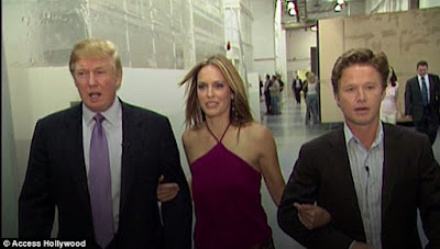 Stars react after graphic 2005 Donald Trump and Billy Bush conversation leaks