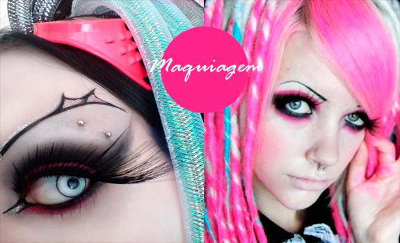 Estilo Cyber Goth Maquiagem
