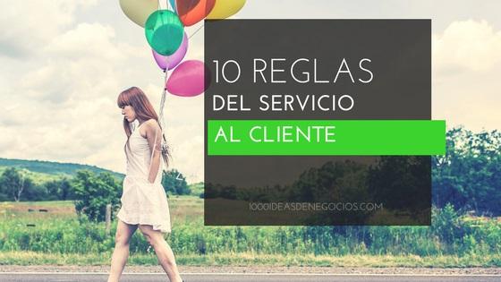 reglas del servicio al cliente