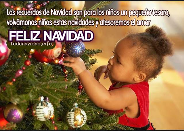 recuerdos de Navidad son para los niños un pequeño tesoro