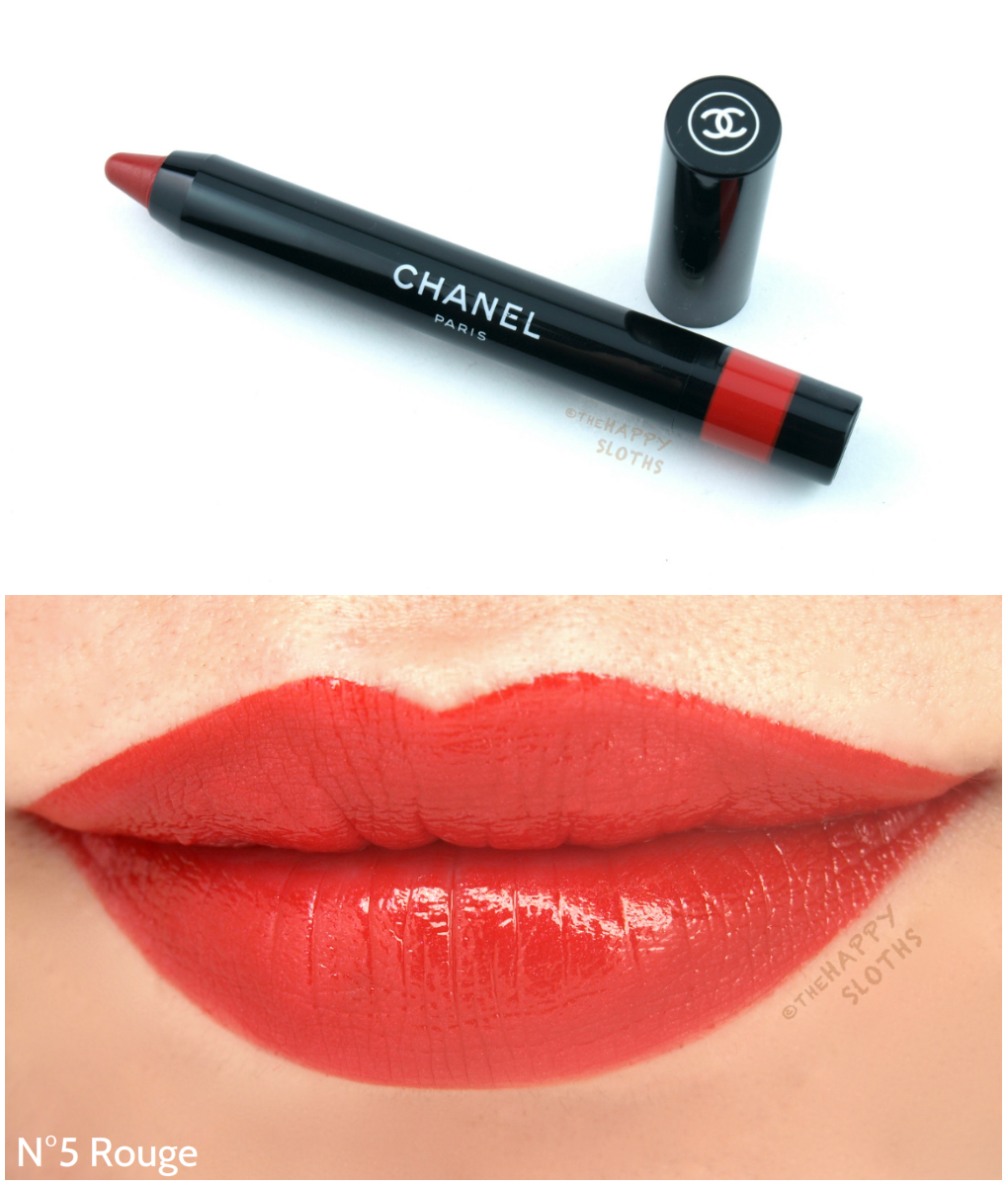 Chanel Le Rouge Crayon de Couleur Review and Swatches: N5 Rouge