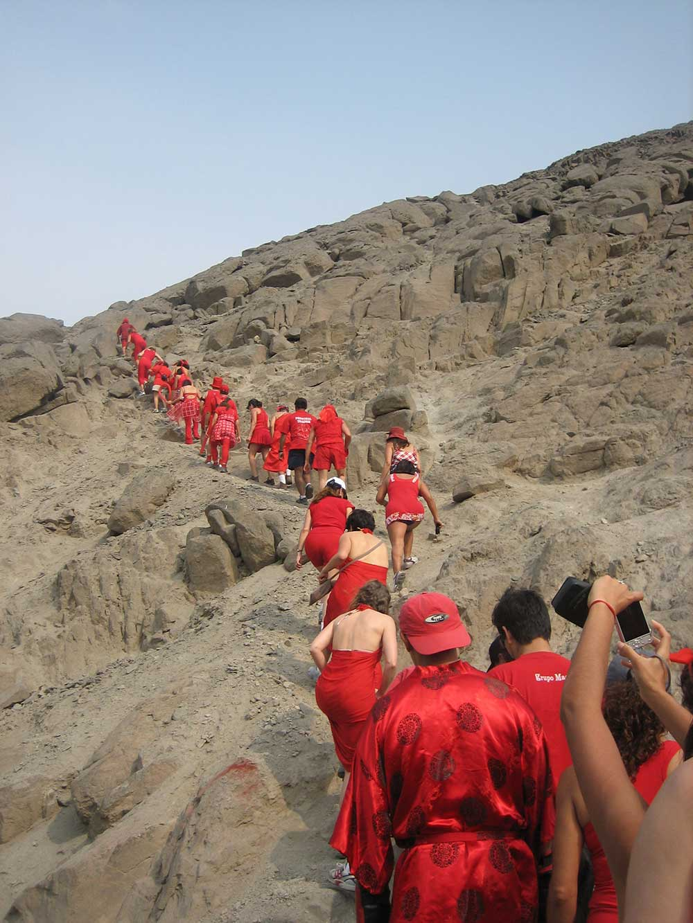 The first Red Dress Hash in South America, held in Chaclacayo, near Lima, Peru.