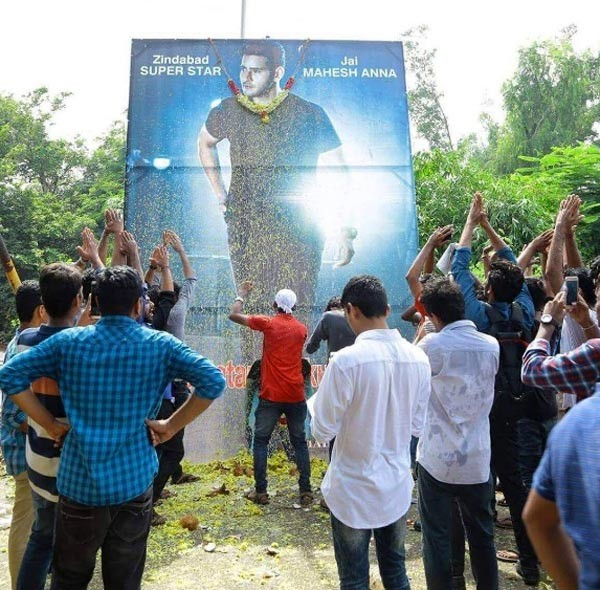 Mahesh Babu Fans Celebrate Spyder Movie Release