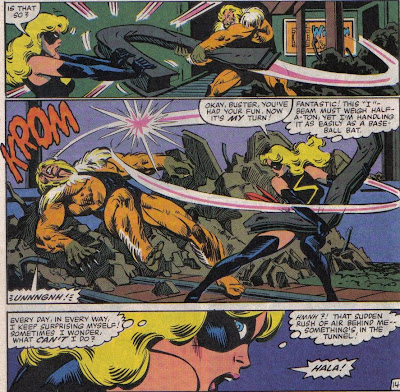 Sabretooth wasn't anywhere near that strong in his first appearances, so he's really fighting out of his league here.