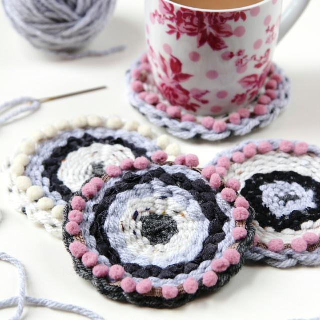 Diy Circular Woven Coasters