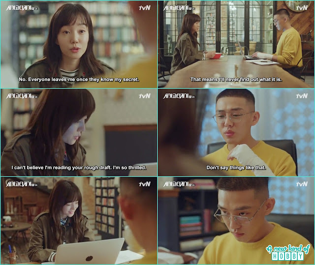 jeon seol helped so joo by writing the rough draft - Chicago Typewriter: Episode 2
