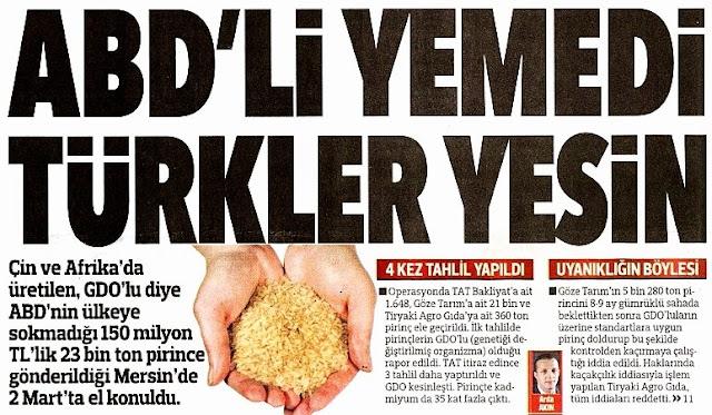 ABD'li yemedi, Türkler yesin