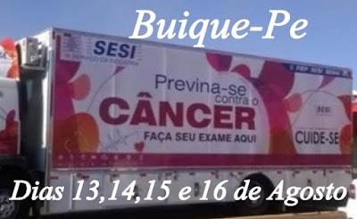 Exames de mama e próstata de graça em Buíque entre os dias 13 e 16 próximo