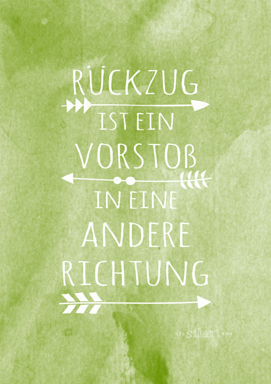 Richtungswechsel, lettering card