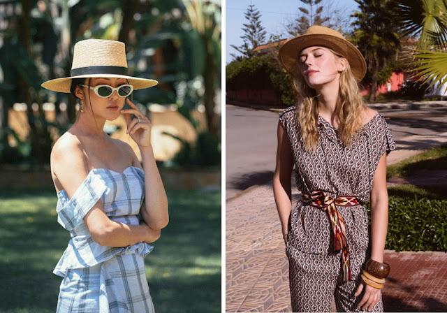 Девушка в летней соломенной шляпе