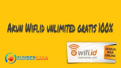 Akun WIFI.ID Gratis Desember 2017 Terbaru 100% Work