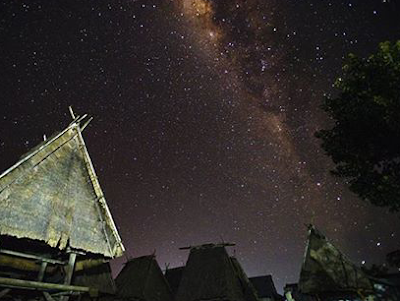 Milkyway di Desa Uma Langge, Bima ,alam hari yang cantik fotografi