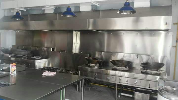 Kitchen Hood Ducting Penghisap Asap Dapur