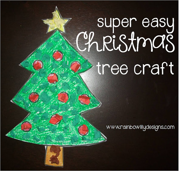 easy christmas tree craft www.rainbowlilydesigns.com