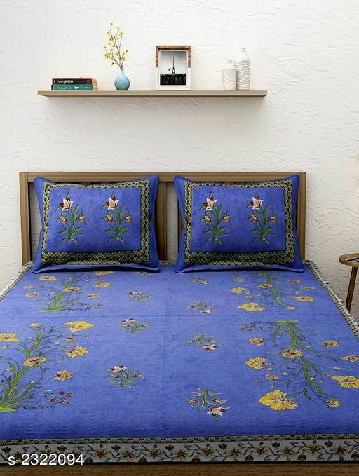 Modern Cotton Printed Double Bedsheet