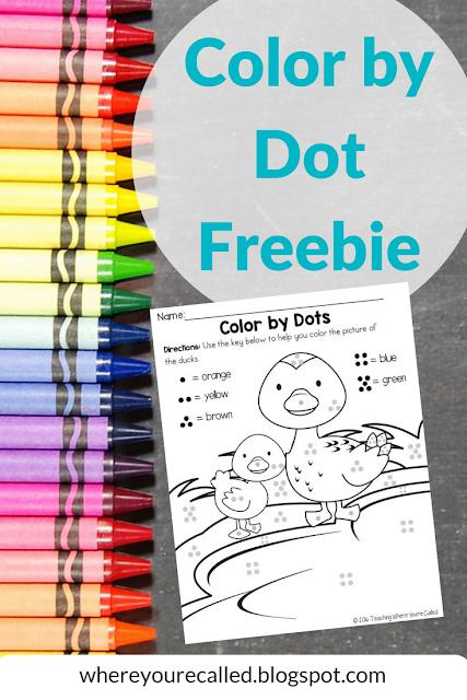Color by Dot Freebie - Letter Dd Week