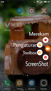 4 menu saat membuka aplikasi du recorder