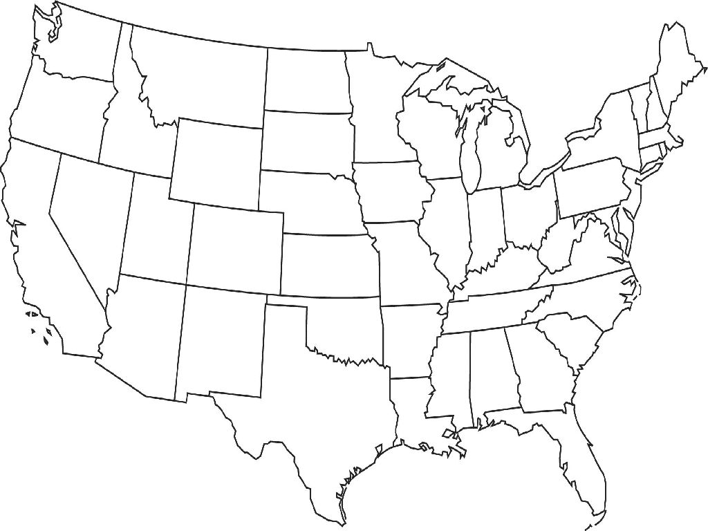 united state map blank