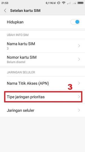 Tipe Jaringan Prioritas