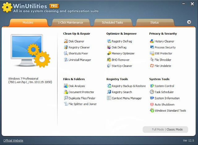 WinUtilities Pro 12.5