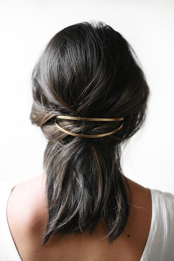 accesorios dorados pelo