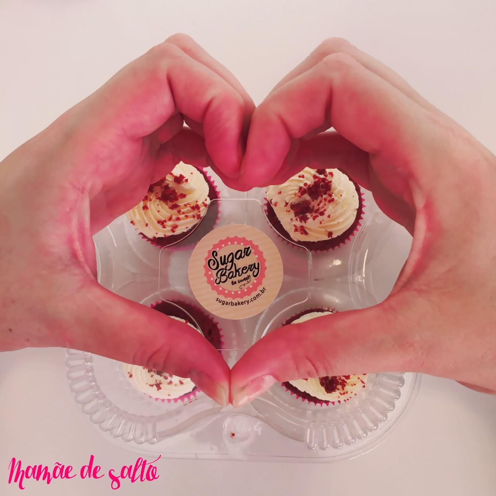 cupcake red velvet Sugar Bakery Curitiba/PR ... blog Mamãe de Salto