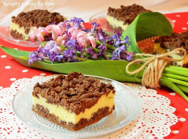 Strúhaný tvarohový koláč s kakaom